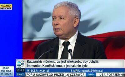 Kaczyński: podważanie klauzuli sumienia to podważanie tolerancji religijnej