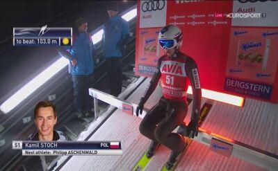 Skok Kamila Stocha w kwalifikacjach w Predazzo