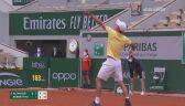 Piłka meczowa w meczu Altmaier - Berrettini w 3. rundzie French Open