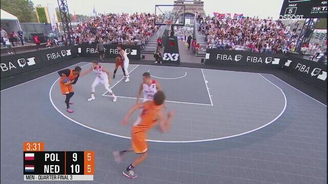 Polacy przejęli inicjatywę w meczu z Holandią w ćwierćfinale ME w koszykówce 3x3