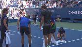 Nerwy Harrisa spowodowały zamieszanie na korcie w ćwierćfinale US Open