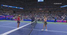 Skrót meczu Raducanu - Sakkari w półfinale US Open