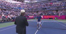 Rozmowa z Miedwiediewem po awansie do finału US Open