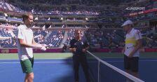 Skrót meczu Miedwiediew - Van de Zandschulp w ćwierćfinale US Open
