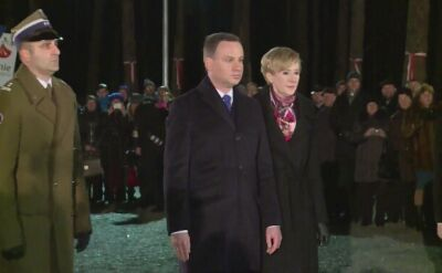 Prezydent Andrzej Duda z małżonką w Bykowni