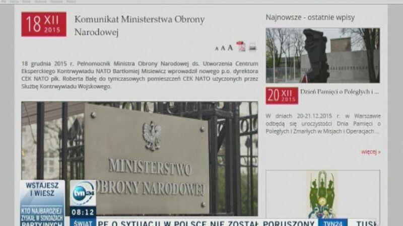 Nocne wejście szefa SKW i urzędnika Macierewicza w Centrum Kontrwywiadu NATO