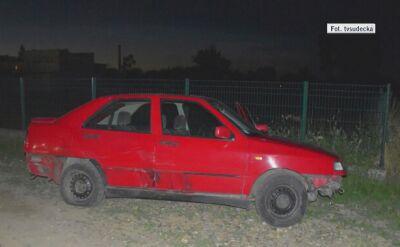 Kierowca porzucił seata i uciekał pieszo