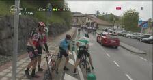 Wypadek z udziałem Tomasza Marczyńskiego na 5. etapie dookoła Kraju Basków