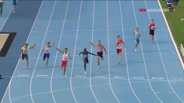 Patryk Dobek wygrywa na 400 m przez płotki w drużynowych mistrzostwach Europy