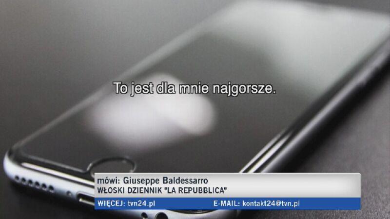 Włoski dziennikarz: najstraszniejsza jest ich nieustępliwość