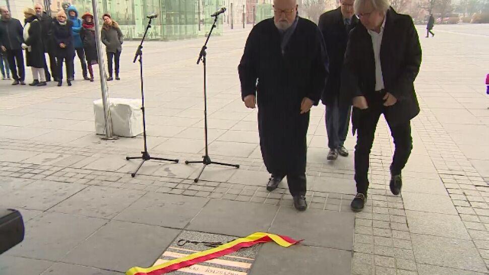 """Penderecki odsłonił tablicę. """"Cieszę się,  że po moim nazwisku będzie się chodzić"""""""
