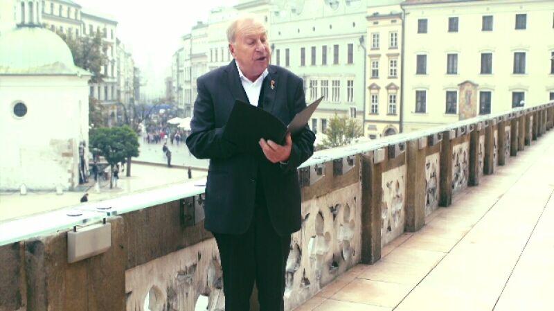 Życzenia dla Polski. Jerzy Stuhr czyta życzenia od Jacka