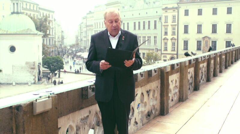 Życzenia dla Polski. Jerzy Stuhr czyta życzenia od Marzeny
