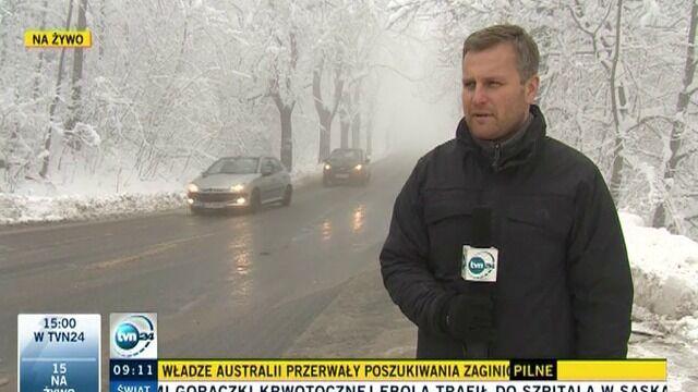 Powrót zimy w górach na Dolnym Śląsku