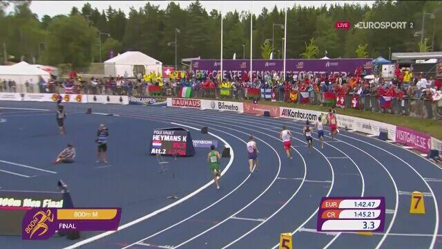 Mateusz Borkowski młodzieżowym mistrzem Europy na 800 m