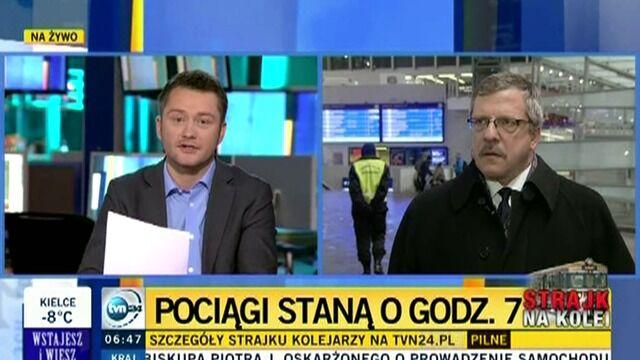 Leszek Miętek w TVN24