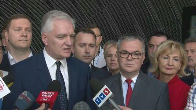 Jarosław Gowin powitałJanusza Buzka w Polsce Razem