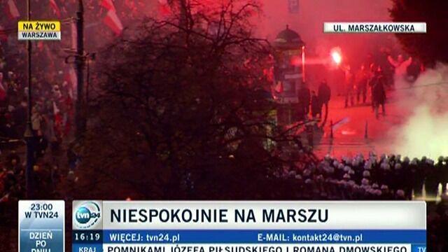 Z miejsca bijatyki w centrum Warszawy - reporter TVN24