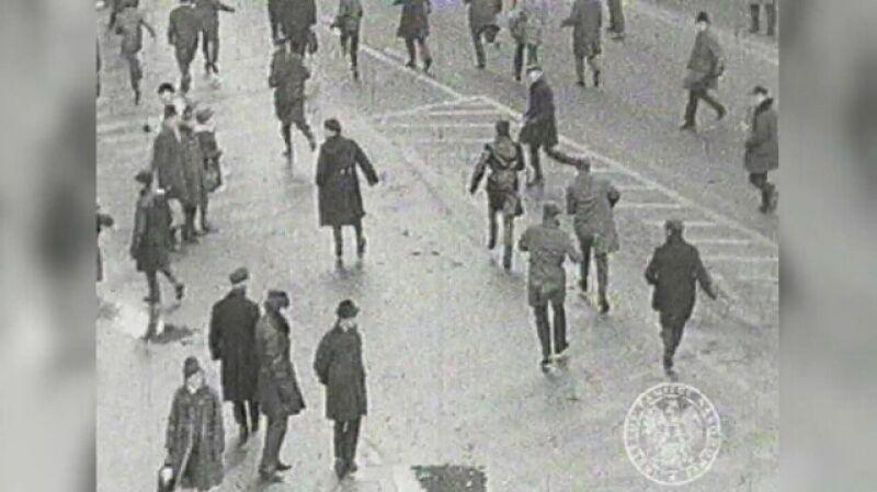 Demonstracje studentów w Warszawie podczas wydarzeń Marca 1968 roku
