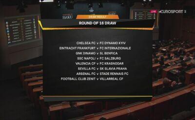 Pary 1/8 finału Ligi Europy