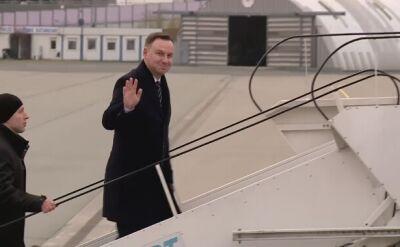 Prezydent Duda wyleciał do Charkowa w środę rano