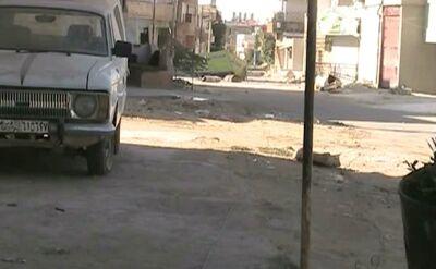 Atak na kolumnę czołgów przy pomocy IED