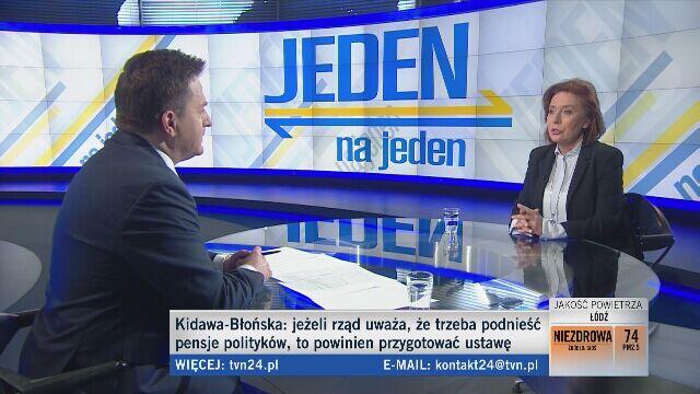 Kidawa-Błońska: nagrody dla premiera i ministrów nie powinny mieć miejsca, to jest pewien rodzaj służby