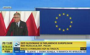 Karczewski (PiS) skrytykował projekt rezolucji PE ws. Polski