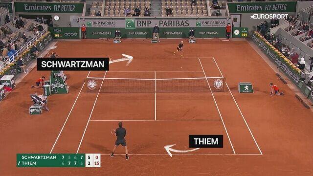 Tenisowe fajerwerki w turnieju panów. Oto najlepsze zagrania Roland Garros 2020
