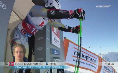 Lucas Braaten wygrał gigant w Soelden