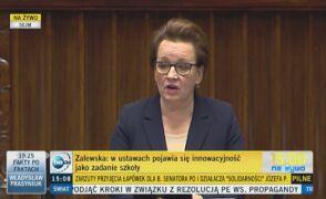 Anna Zalewska: Nauczyciel ma prawo realizować podstawę programową w dowolnym tempie