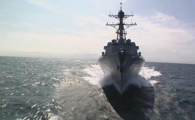 USS Spruance na Morzu Południowochińskim. Wideo archiwalne