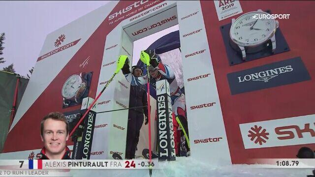 Pinturault odrobił w slalomie i został mistrzem świata w kombinacji