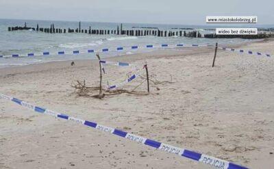 Cztery niewybuchy na plaży w Kołobrzegu
