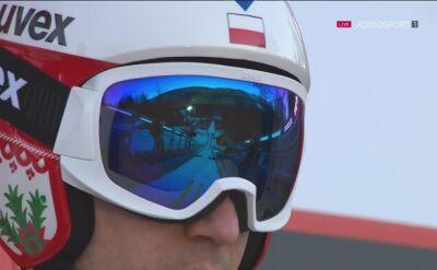 Skok Kamila Stocha w pierwszej serii drużynówki w Willingen