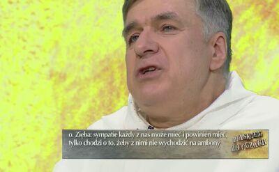 """O. Maciej Zięba w """"Piaskiem po oczach"""" mówił o roli Kościoła w życiu politycznym"""
