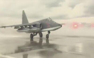Rosyjskie szturmowce Su-25 odlatują z Syrii