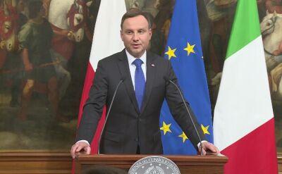 O UE i NATO, a potem uroczystości pod Monte Cassino. Prezydent z wizytą we Włoszech