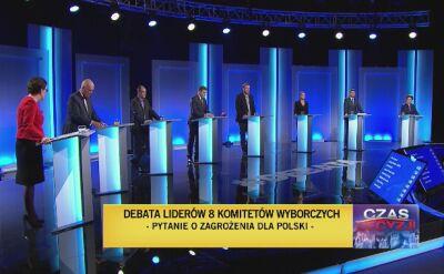 Uczestnicy debaty odpowiedzieli na pytanie dotyczące zagrożeń dla Polski