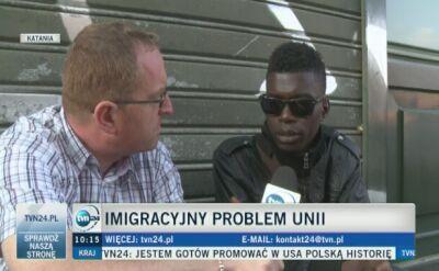 Relacja wysłannika TVN24 z Sycylii