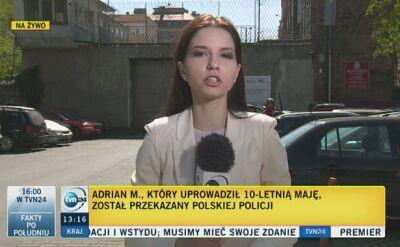Adrian M. już w Polsce