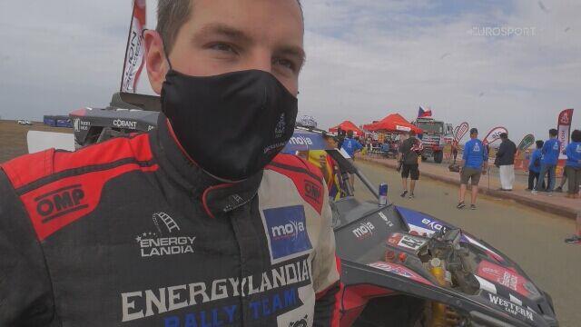 Rozmowa z Michałem Goczałem na mecie Dakaru