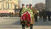 Złożenie wieńców na płycie Grobu Nieznanego Żołnierza