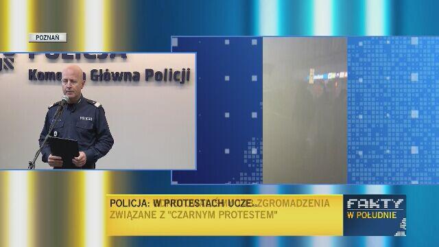 Komendant Główny o ataku na policjantów w Poznaniu po Czarnym Proteście