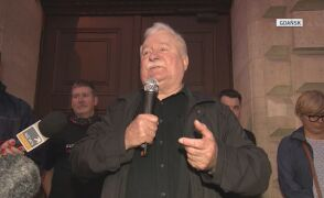 W Gdańsku do protestujących przemówił Lech Wałęsa