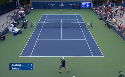 Skrót meczu Majchrzak - Berlocq w pierwszej rundzie kwalifikacji do US Open