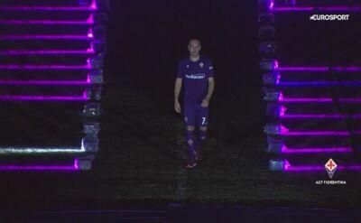 Ribery zaprezentowany na stadionie Fiorentiny