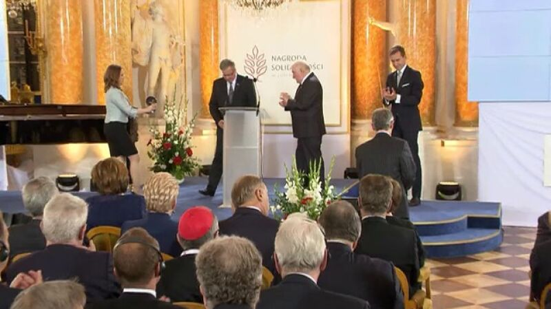 Mustafa Dżemilew odebrał Nagrodę Solidarności im. Lecha Wałęsy