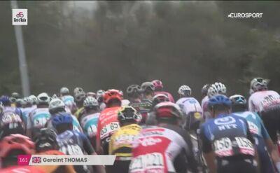 Geraint Thomas po przejściach na 3. etapie Giro