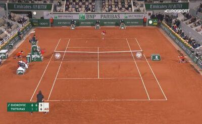 Djoković przełamany przez Tsitsipasa w 3. secie półfinału French Open
